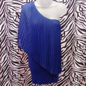 Dresses & Skirts - Mini Dress JUNIOR LARGE Pleated Off Shoulder NEW